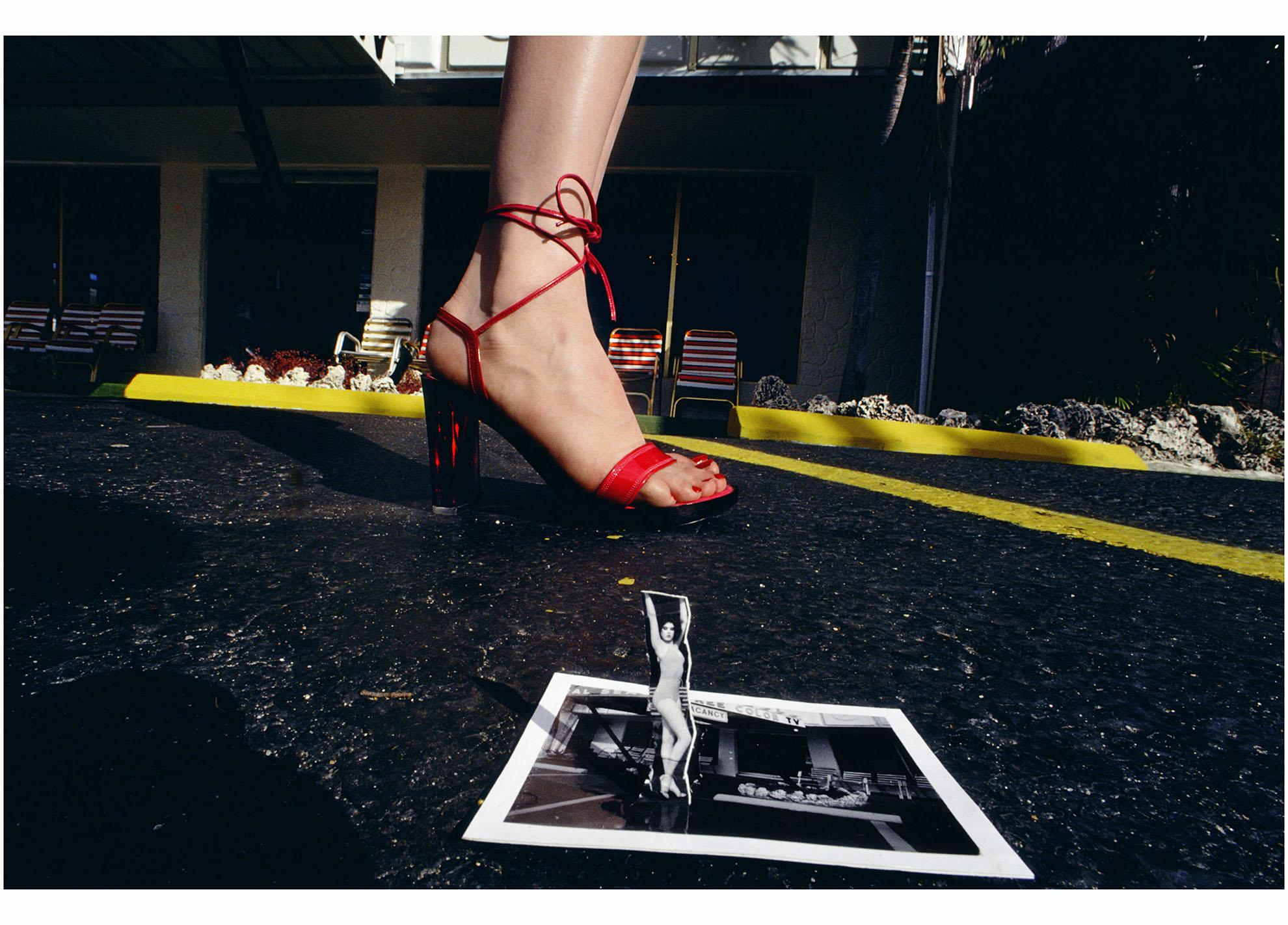 Guy Bourdin Polaroids Pleasurephoto Bettina Heels Netty Beige Charles Jourdan Spring 1978
