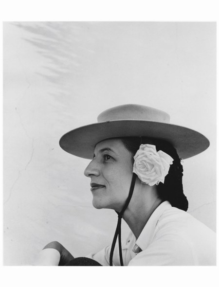 Diana Vreeland with Hat and Rose, 1942