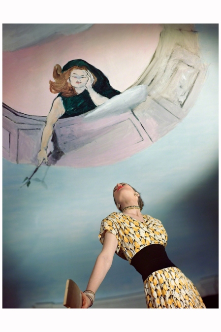 Dress by Jo Copeland, Mural by Marcel Vertes, 1946 Photo Horst P. Horst