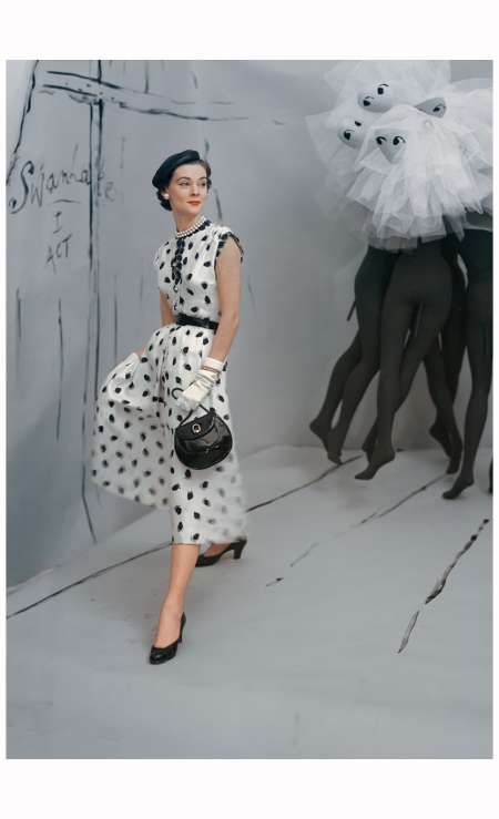 Dress by Mollie Parnis, background by Marcel Vertes Vogue, 1953 Horst P. Horst