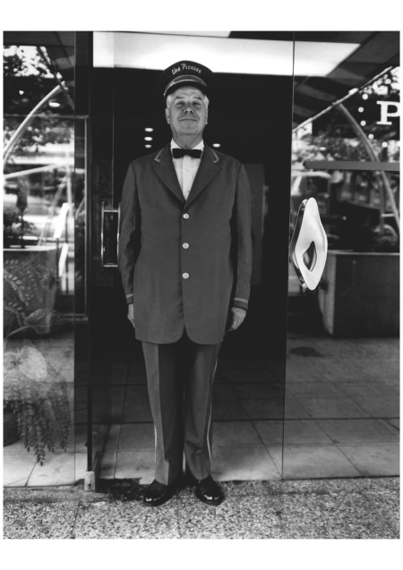 Evelyn Hofer, Doorman, New York, 1964 : Neighborhood bum, New York 1965