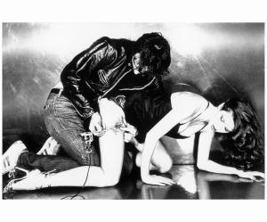 Gia Carangi 1979 (a fixture at the burgeoning punk club) getting tattooed for a 1980 issue of Harper's Bazaar Chris von ­Wangenheim bn