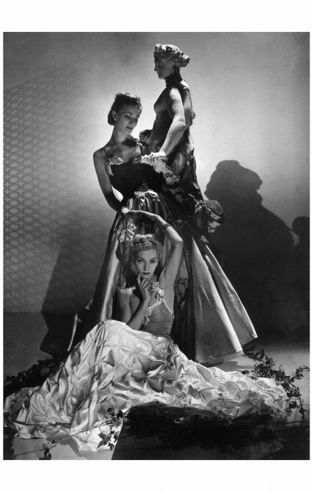 Helen Bennett (seated) and Lyla Zelensky in evening dresses by Maggy Rouff, jewelry by Mauboussin 1938 Horst P. Horst