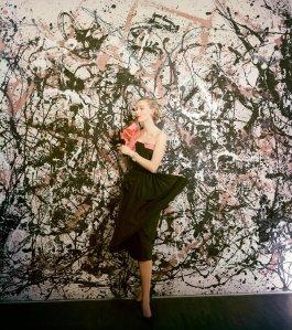 Jackson Pollock fashion influence Vogue, March 1951 Photo Cecil Beaton
