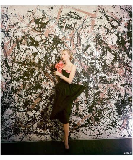 Jackson Pollock - fashion influence Vogue, March 1951 Photo Cecil Beaton