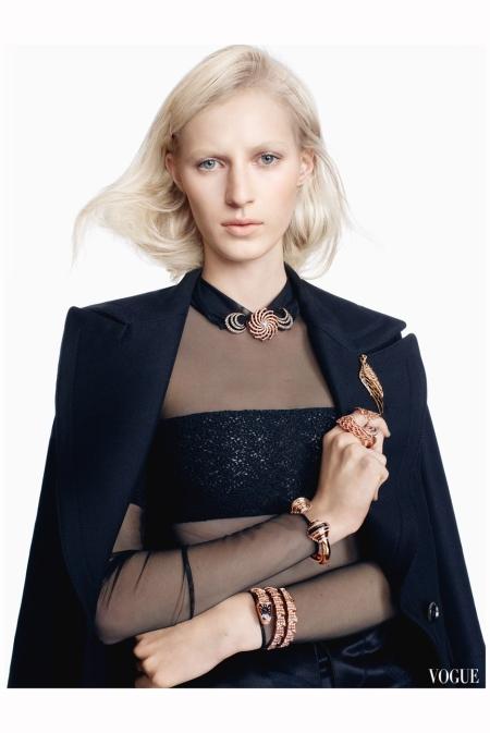 Julia Nobis for UK Vogue (July 2013) photo shoot by Scott Trindl