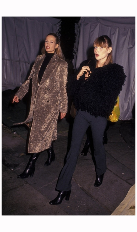 Karen Mulder and Carla Bruni, 1993 Ron Galella, Ltd.:WireImage