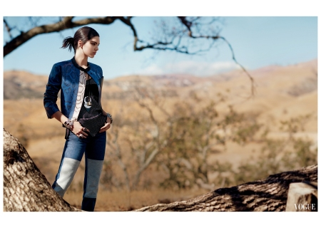 Kendall jenner David Sims, Vogue, January 2015 o