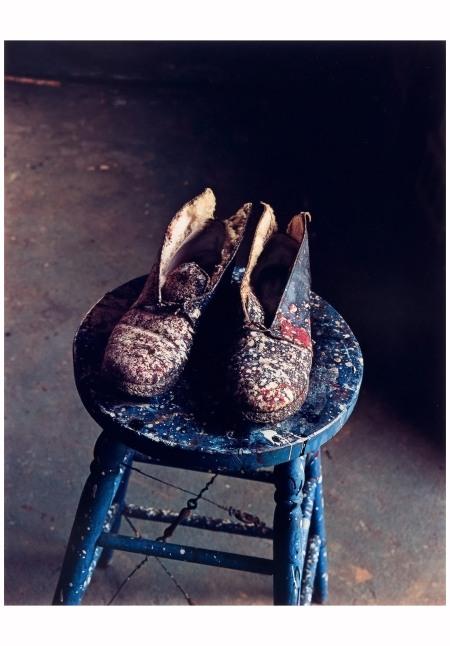 Lee Krasner's Shoes, Pollock Studio, Long Island, N.Y., 1988 Photo Evelyn Hofer