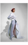 Linda Evangelista Vogue UK October 1991 Claude Montana Lanvin %22Send in the gowns%22 Photo Patrick Demarchelier b