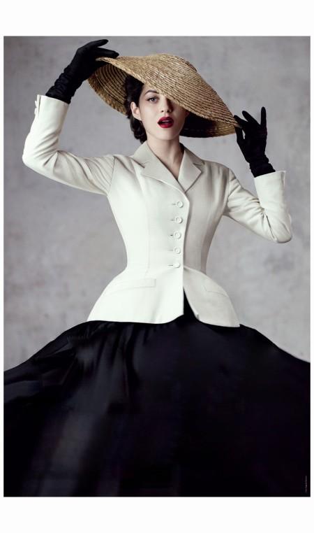 Marion Cotillard en costume New Look de Dior 1947 2012 Photo Jean-Baptiste