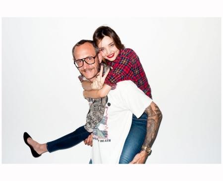 Miranda Kerr sheer bra with Terry Richardson