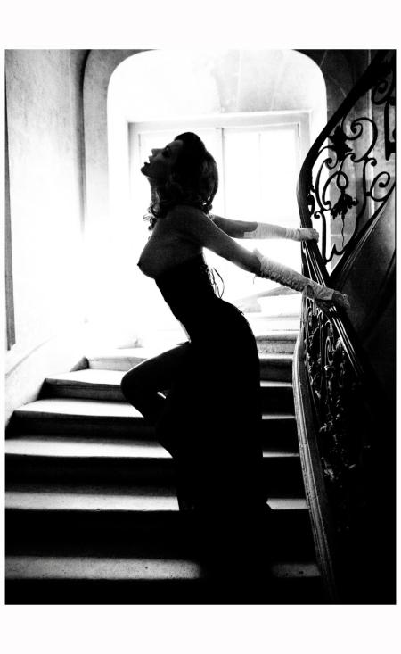 Model Olga Rodionova From the series The Story of Olga Olga in the Stairway, 2011 Photo Ellen Von Unwerth