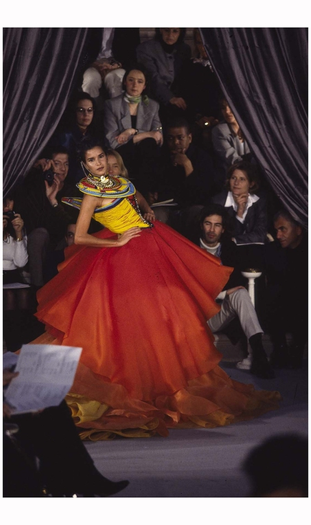 Patricia Velasquez  in John Galliano first C Dior collection 1997 Photo Niall McInerney