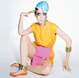 Peggy Moffitt in Rudi Gernreich Dress from the Siamese Collection, 1968 large