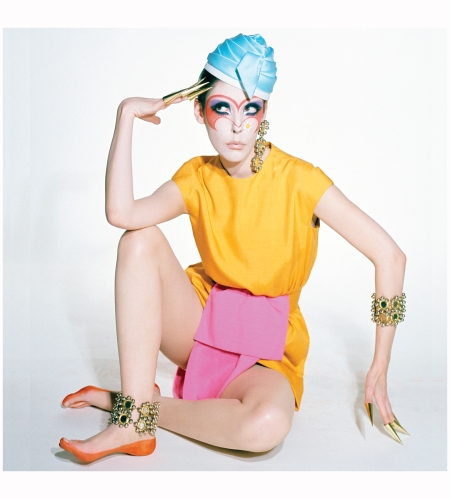 Peggy Moffitt in Rudi Gernreich Dress from the Siamese Collection, 1968