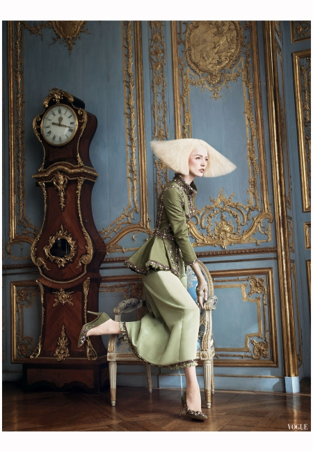 Racquel Zimmerman Chanel - Vogue, October 2007 Photo David Sims