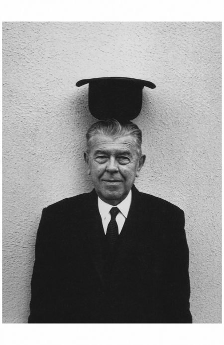 René Magritte by Duane Michals, 1965