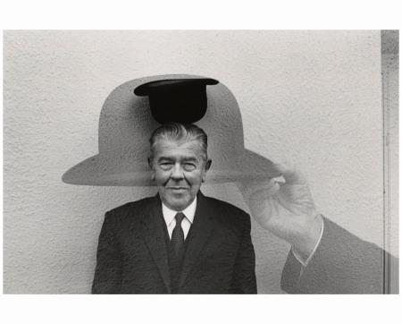 René Magritte with Hat, 1965 Photo Duane Michals
