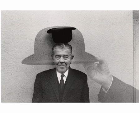 René Magritte with Hat, 1965 Photo Duane Michals