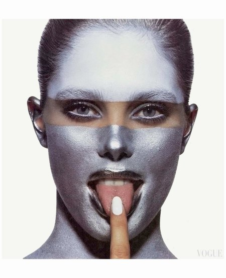 Renee Simonsen  US Vogue May 1985 Photo Irving Penn Makeup Rick Gillette