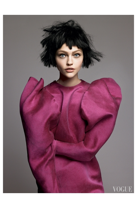 Sasha Pivovarova Lanvin David Sims, Vogue, July 2007