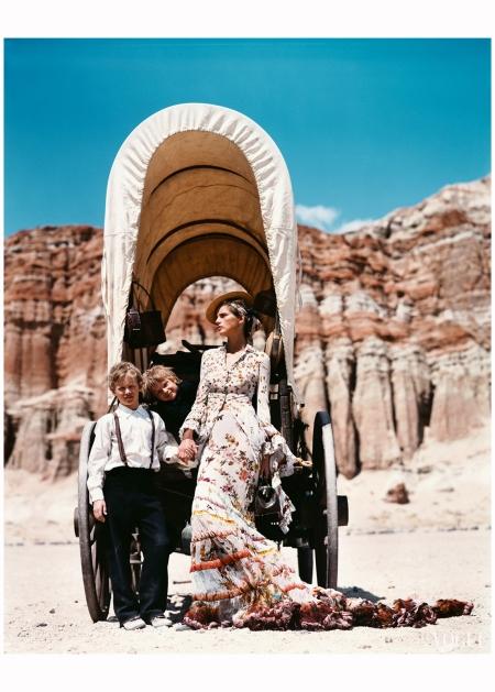 Stella Tennant - Oh, Pioneers! Vogue June 2001 Arthur Elgort