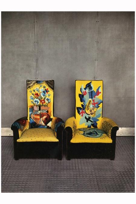Two Chairs At Maison De Verre Paris 1982 Photo Evelyn Hofer