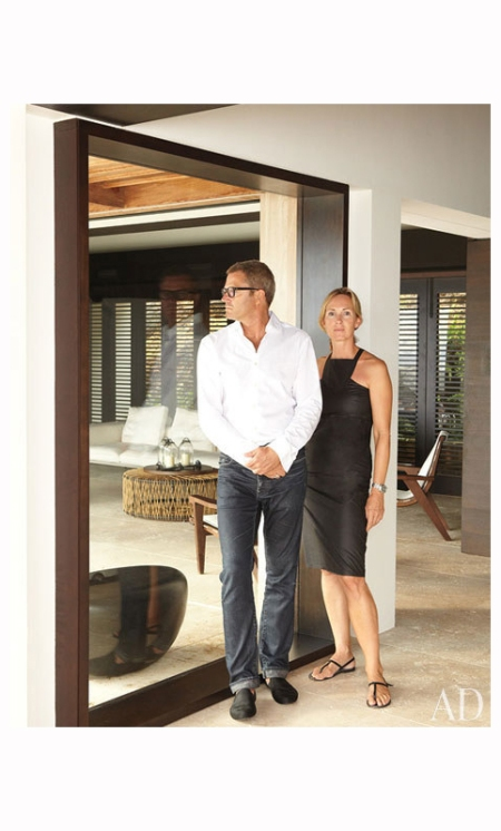 Wolfgang Ludes and his wife, Antonia, at the Peak, a St. Barts