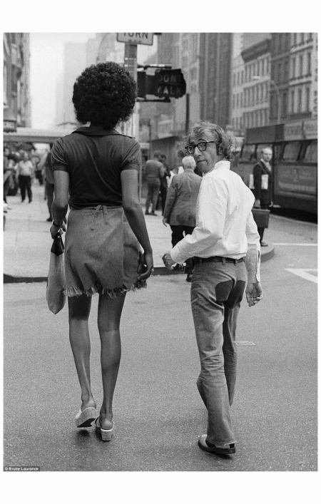 Woody Allen with Tamara Dobson, New York, 1971 - By Bruce Laurance