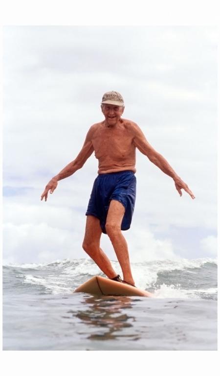 Woody Brown (surfer) at 89 Photo Karen Kuehn