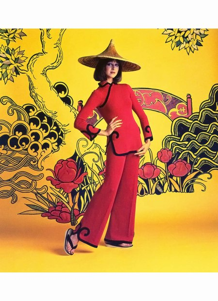 Chinese-inspired fashion for Time article %22The Chinese Look: Mao a la Mode%22,1975 Ormond Gigli