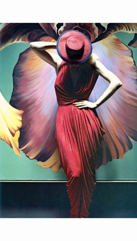 Dress designed by Norma Kamali worn by model Donna Jordan, for Newsweek, 1978 Ormond Gigli