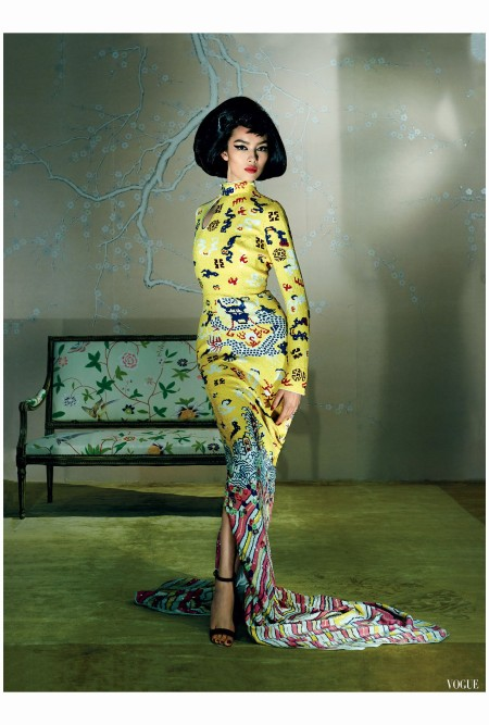 Fei Fei Sun - YSL Tom Ford 2004 Photo Steven Meisel, Vogue, May 2015 large