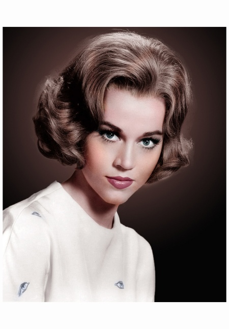 Jane Fonda 1964 Photo  Virgil Apger colorized