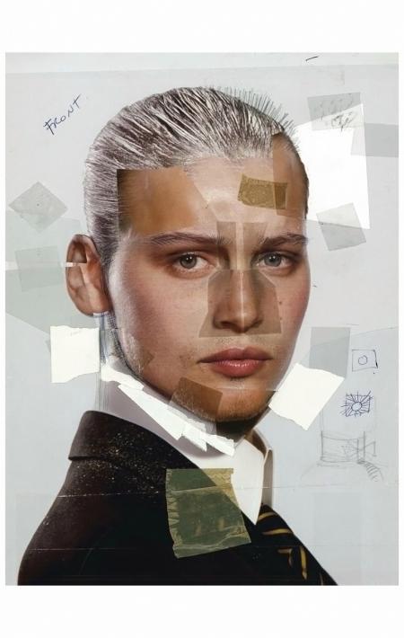 Laetitia Casta per le Galeries Lafayette. 'L?homme' è un collage. Parigi, 2004