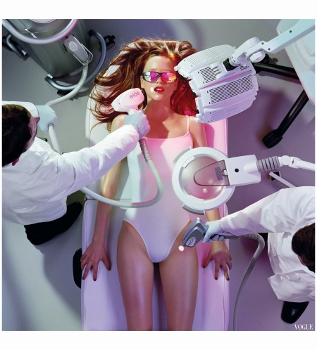 Laser Removal Vogue 2006 © Miles Aldridge Trunk Archive