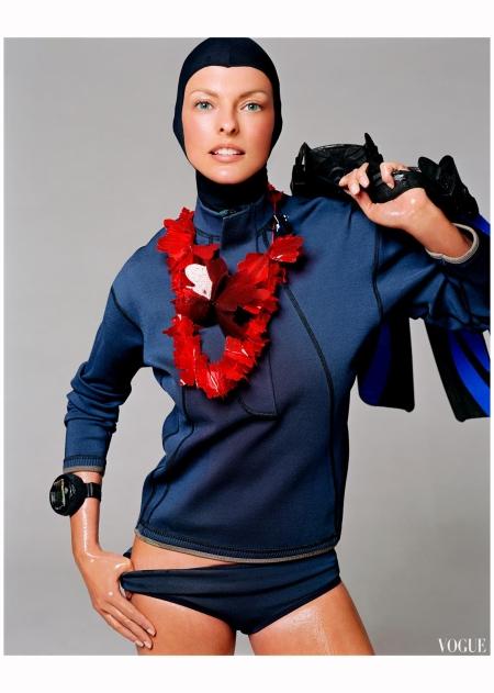 """Linda Evangelista """"Sporting Linda"""" Vogue it Feb 2003 Steven Meisel a"""