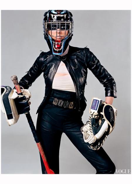 """Linda Evangelista """"Sporting Linda"""" Vogue it Feb 2003 Steven Meisel d"""