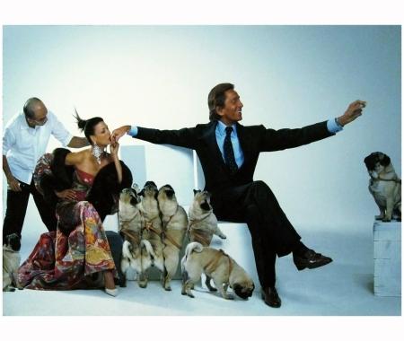Linda Evangelista & Valentino Paris 2003 Jean Paul Goude