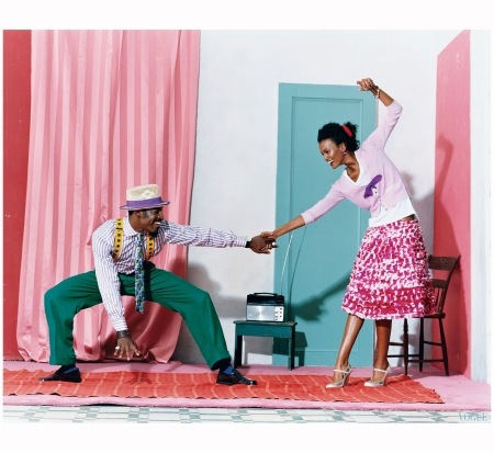 Liya Kebede and Andre 3000 Vogue jan 2005 Arthur Elgort