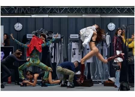 "Louis Vuitton ""Showtime"". Elle UK Feb 2015 Jean Paul Goude b"