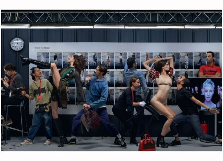 "Louis Vuitton ""Showtime"". Elle UK Feb 2015 Jean Paul Goude"