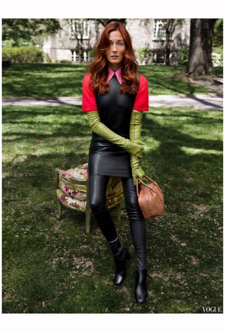 Maggie Rizer Vogue us aug 2015 Inez & Vinoodh