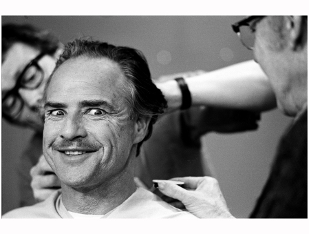 Marlon Brando Makeup %22The Godfather%22 NYC 1971 Photo Steve Schapiro