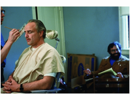 Marlon Brando Makeup Ford Coppola back %22The Godfather%22 1971 Photo Steve Schapiro