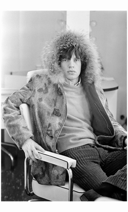 Mick Jagger in Fur Parker 1964 Photo Terry O'Neill