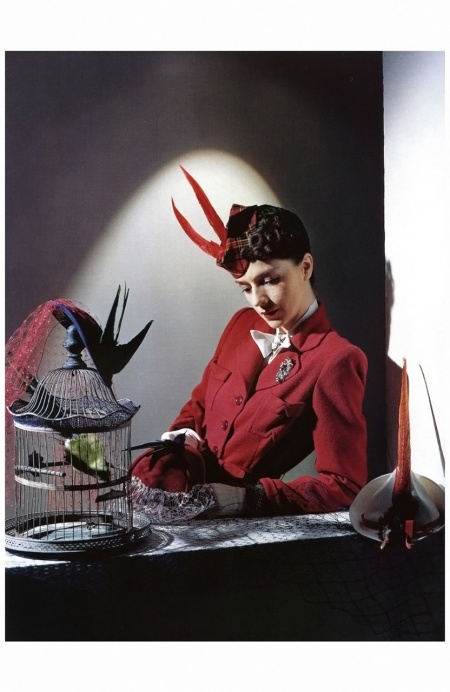 Model in jacket and cap from Bergdorf Goodman, brooch by Cartier, 1939 Horst P.Horst