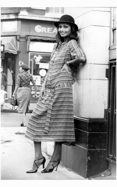 Model Shakira Caine in West London, 1976 Wesley