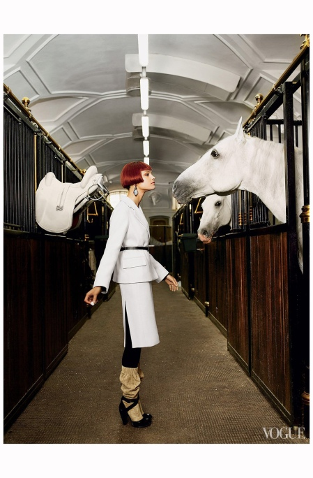 Natalia Vodianova Vienne, École d'Équitation Espagnole %22The Last Waltz%22 Vogue US September 2006 Mario Testino